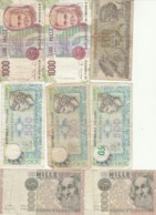 ITALIA F/VF LOTTO 8 BANCONOTE  8 (BN620 - Andere