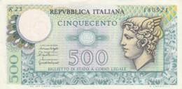 ITALIA  BIGLIETTO DI STATO 500 LIRE EF (BN627 - 500 Lire