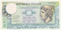 ITALIA  BIGLIETTO DI STATO 500 LIRE EF (BN628 - [ 2] 1946-… : Repubblica