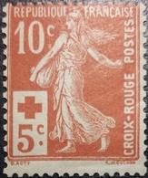 France Y&T N°147 Semeuse 10c +5c Rouge Neuf* - Francia