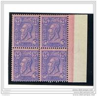LEOPOLD II - BOORDBLAD/BORD DE FEUILLE - COB : 48 - BLOK VAN 4/BLOC DE 4 - 1985** - Unused Stamps