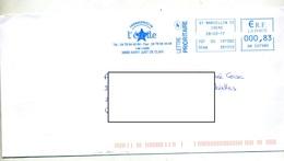 Lettre Flamme Ema Saint Marcellin Fromagerie L'etoile - Storia Postale