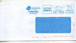 Lettre Flamme Ema Angers Université - Affrancature Meccaniche Rosse (EMA)