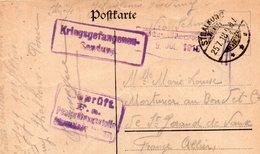 """CP- Camp De Prisonniers- """" STRALKOW- (Pologne )  """"- - Guerre 1914-18"""