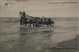 Ostende - Oostende / Le Lancement Du Bateau De Sauvetage 19?? Ed. Star - Oostende