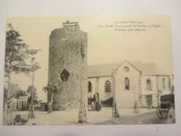 Cpa ARCHES (15) Vieille Tour Servant De Clocher à L'église - Altri Comuni