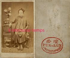 A Voir-CHINE-CDV Jeune Fille-photographe PUN-LUN - Old (before 1900)