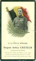 WO1 / WW1 - Doodsprentje Créteur Arthur - Bonsecours / Passendale - Gesneuvelde - Décès