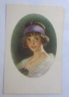 Künstlerkarte, Frauen, Mode, Haarschmuck,  1920 ♥ (25653) - Künstlerkarten