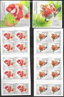SINGAPORE, 2019, MNH, DEFINITIVES, FISH, GOLDFISH, 2 SELF ADHESIVE BOOKLETS OF 10v EACH - Peces