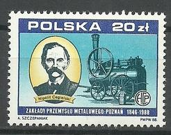 Polonia 1988 ** Mnh - Trains