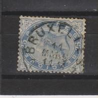 COB 40 Oblitération Centrale BRUXELLES 7 - 1883 Leopold II