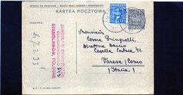 CG6 -  Polonia  - Cartolina Postale - Stanislawow 24/11/1932 Per Varese - Stamped Stationery