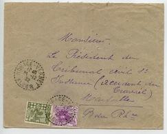 Algérie N°38 Et 45 Oblitéré Horace Vernet En 1932 Sur Lettre Pour Marseille - Otros