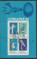 Portugal   1982  Mi.Nr. 1577/89  Block 37  , Lubrapex  82 - Gestempelt / Used / (o) - 1910-... République