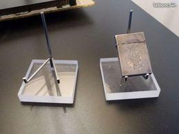 2 SUPPORTS PORTE-OBJETS Professionnels En Altu Glass - Minéraux & Fossiles