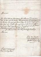 1793 LANGRES - L.A.S. CHARMOISELLE Au Citoyen VALLOT, Notaire à BAISSEY (52) - Documentos Históricos