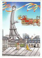 """"""" Le Père Noël Et La Tour Eiffel """" / Ill. Bernard Veyri - Eiffeltoren"""