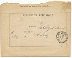 HAUTE SAONE LAC 1ER JANVIER 1913 ST LOUP SUR SEMOUSE T84 SUR LETTRE SERVICE TYPE 1392-64bis EN FRANCHISE - Poststempel (Briefe)