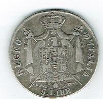 Italie 5 L Argento 1809 M  TB - Italien