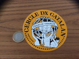 AUTOCOLLANT, Sticker «CERCLE DX CATALAN - CHARLIE-CHARLIE - PERPIGNAN (66)» (femmes Nues) - Autocollants