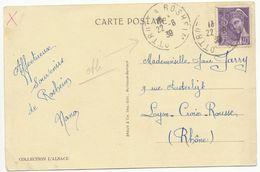 BAS RHIN CP 1939 OTTROTT A ROSHEIM AMBULANT - Marcophilie (Lettres)