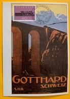 9935 - Carte Maximum Gotthard Amsteg 18.02.1982 - Trains