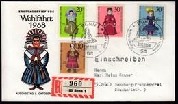 Germany  Bonn 1968 / Wohlfahrt Puppen Dolls Charity Stamps / FDC - Poupées