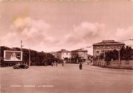 """M08907 """" LIVORNO-ARDENZA-LA ROTONDA""""ANIMATA-PUBBLICITA' COCA COLA - CART. ILLUSTR. ORIG.  SPED.1962 - Livorno"""