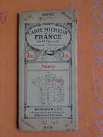 CARTE ROUTIÈRE  MICHELIN NANCY 54 MEURTHE ET MOSELLE - Cartes Routières
