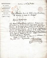 1813 L.A.S. CHRETIEN  De CONDRIEU (69) à La Mairie De RIVEDEGIER (42) Levée Des 300.000 Hommes - Documents Historiques
