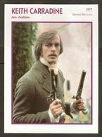 PORTRAIT DE STAR 1977 GRANDE BRETAGNE - ACTEUR KEITH CARRADINE - ENGLAND ACTOR CINEMA FILM PHOTO - Fotos
