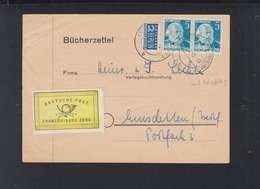 Französische Zone Bücherzettel 1949 Ludwigshafen - Zona Francese