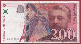"200 Francs ""Eiffel"" 1995---F/TTB+---Série.M-----numéro -002731575 - 1992-2000 Ultima Gama"