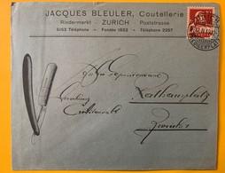 9942 - Lettre Jacques Bleuler Coutellerie Zürich 12.02.1919 - Lettres & Documents