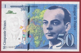 "50 Francs ""St Exupéry"" 1993---VF/SUP---Série.S-----numéro -009713861 - 1992-2000 Ultima Gama"