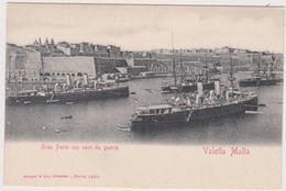 Malte Gran Porto Con Navi Da Guerra - Malte