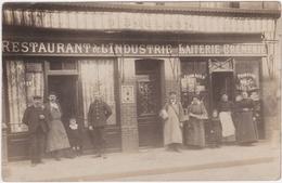 Carte Photo 76 Rouen Restaurant De L'Industrie D Boulard 77 Bis Rue D'Elbeuf - Rouen
