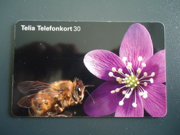 SWEDEN USED   CARDS  BEES - Honingbijen
