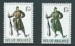 België Nr 1293 En 1293a Groene Infanterist - Variétés (Catalogue COB)