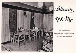 Patisserie Picnic Restaurant Oostende Real Photo Belgium Postcard - Unclassified