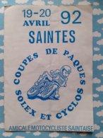 Programme Coupes De Paques Solex & Cyclos Saintes 19 & 20 Avril 1992 - Programs