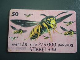 DENMARK  USED   CARDS  BEES - Honingbijen
