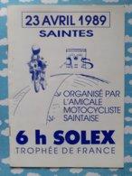 Programme 6 Heures De Solex  Saintes  23 Avril 1989 - Programmes