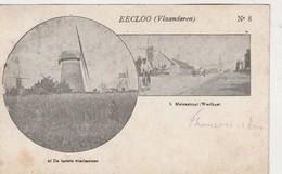 RARE Eecloo Eeklo Vlaanderen N° 8 : A / De Laatste Windmolens , B / Molenstraat ( Westkant )molen; Moulin à Vent - Eeklo