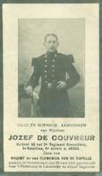 WO1 / WW1 - Doodsprentje De Couvreur Jozef - Nederbrakel / Kaaskerke - Gesneuvelde - Décès