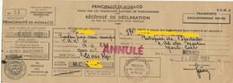 TIMBRES FISCAUX DE MONACO TAXE SUR LES TRANSPORTS PETIT TMBRE FISCAL à L'extraordinaire RAINIER III - Fiscale Zegels