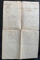 9949 Suisse Administration Des Postes Attribution D'une Tunique Au Nouveau Facteur De Chexbres 15.09.1878 - Old Paper