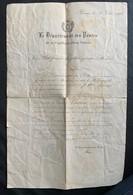 9950 -  Suisse Le Département Des Postes Voua A Nommé Facteu Rural à Chexbres 30 Juin 1876 - Vieux Papiers