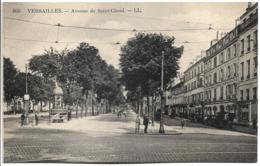 D78 - VERSAILLES - AVENUE DE SAINT CLOUD - Plusieurs Personns - Cycliste - Véhicules Anciens - Urinoir - Versailles